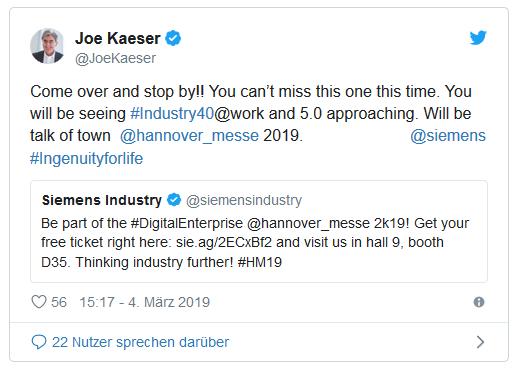 Siemens Chef Joe Kaeser Ruft Die Industrie 50 Aus Was Soll Das