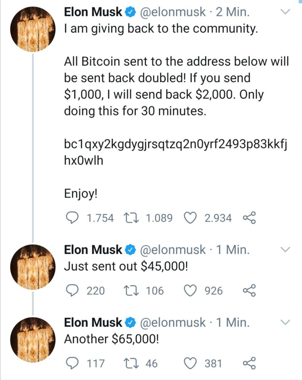 Beispielloser Twitter Hack Prominente Accounts von Elon Musk ...